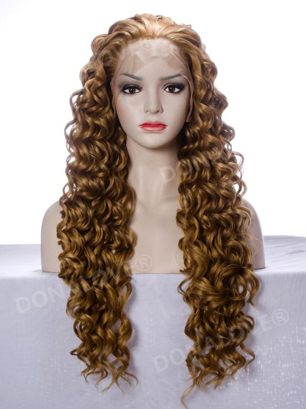 #10 mix #27s waist length curly Synthetic Lace Wig-SNY008