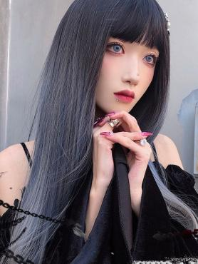 GRADIENT LONG STRAIGHT SYNTHETIC WEFTED CAP WIG LG499