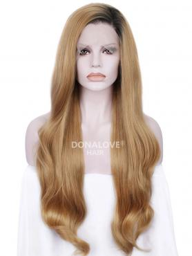 BLACK TO BLONDE LONG SYNTHETIC LACE FRONT WIG SNY201