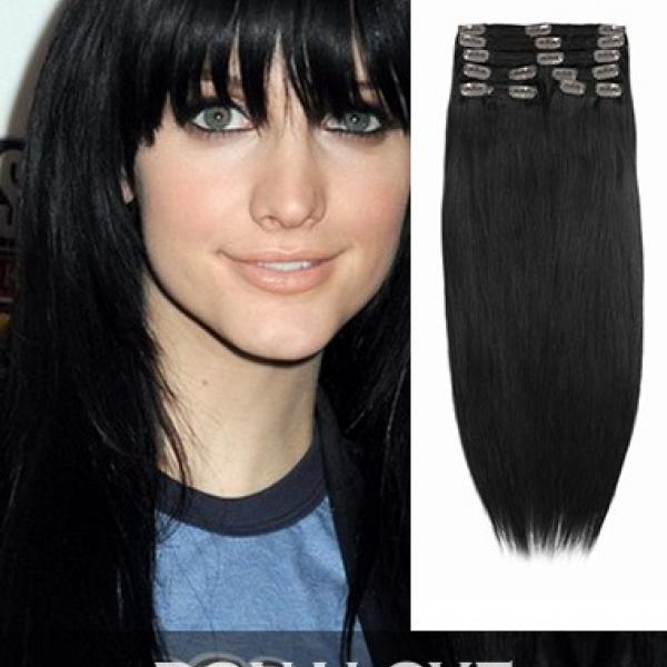 Two Colors Ombre Indian Remy Clip In Hair Extensions Od017 Home