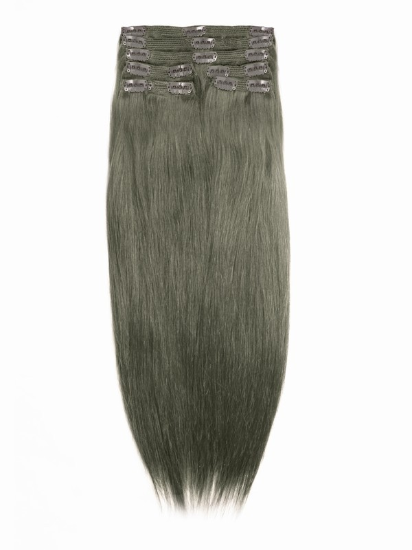 Medium Ash Brown Indian Remy Clip In Hair Extensions Sd010 Clip In