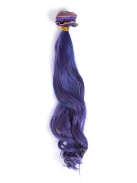 Purple Color Indian Hair Clip In Hair Extensions CD005