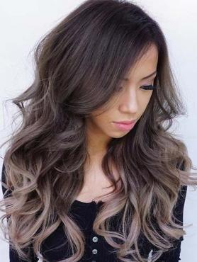 Dark Brown Ombre Ash Blonde Long Way Full Lace Human Hair Wig FLW006
