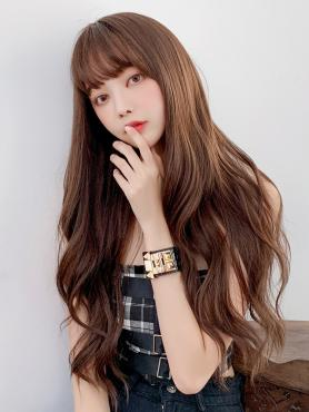 CHOCOLATE LONG WAVY WEFTED CAP WIG LG363