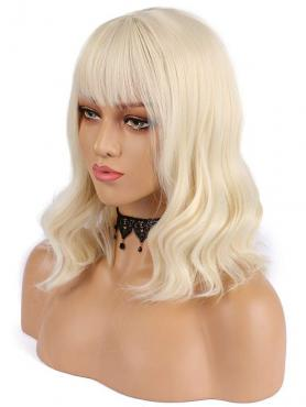 NEW BLONDE BOB WAVY SYNTHETIC WEFTED CAP WIG WW036