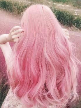 PINK LONG WAVY SYNTHETIC WEFTED CAP WIG LG280