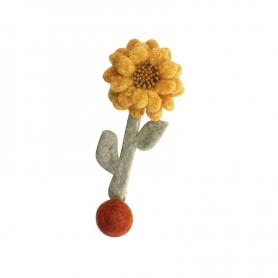 ONE PIECE OF FLUFFY SUNFLOWER HAIR CLIP DC048