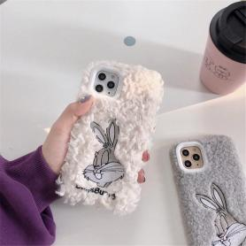 FURRY BUNNY SHOCKPROOF PROTECTIVE DESIGNER IPHONE CASE PC024