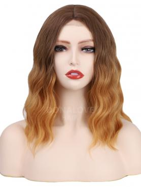 GRADIENT SHOULDER LENGTH WAVY MIDDLE PART LACE WIG MPL008