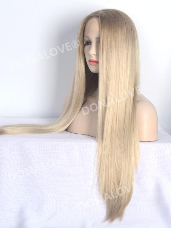Brown Ombre Blonde Synthetic Lace Front Wig Sny108 Synthetic Wigs