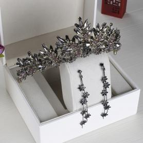 BLACK VINTAGE BRIDAL CROWN AC034