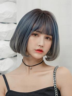 NEW GRADIENT STRAIGHT BOB SYNTHETIC WEFTED CAP WIG LG150