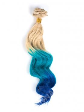 White Blonde to Blue Mermaid Colorful Clip In Hair Extension CD006