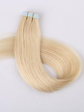 613A White Blonde Dyeable 100% human hair Tape In
