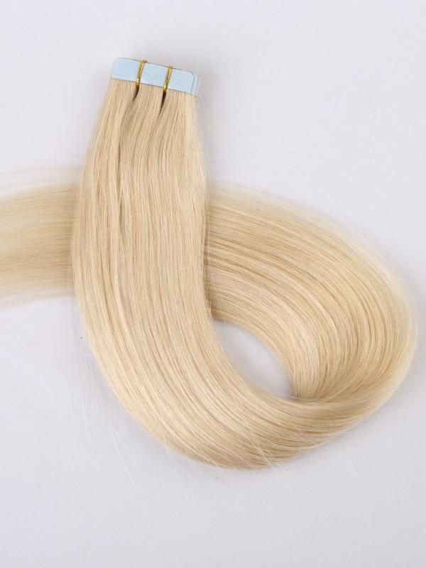613a White Blonde Dyeable 100 Human Hair Tape In Hair Extensions