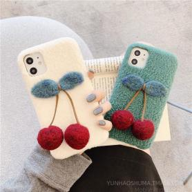 FURRY CHERRY SHOCKPROOF PROTECTIVE DESIGNER IPHONE CASE PC019