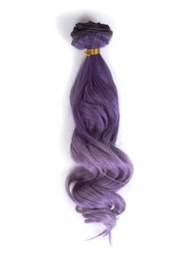 Purple to lavender ombre indian remy clip in hair extensions CD001