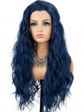 NEW Blue Beach Wavy Synthetic Lace Front Wig SNY138