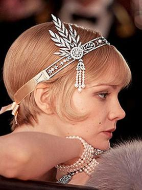 The Great Gatsby Hair Accessories Crystal Pearl Tassels Hair Headbands Head Jewelry A027