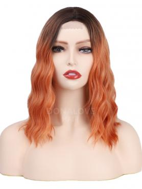 GRADIENT SHOULDER LENGTH WAVY MIDDLE PART LACE WIG MPL010