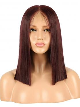 BROWN SHOULDER LENGTH BOB SYNTHETIC LACE FRONT WIG SNY171