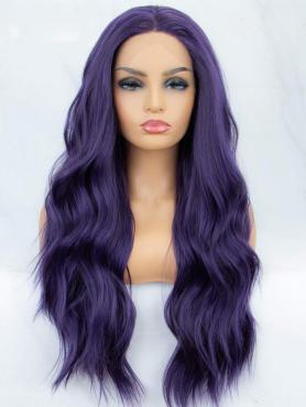 PURPLE LONG CURLY LONG SYNTHETIC LACE FRONT WIG SNY001