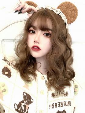 BROWN WAVY SYNTHETIC WEFTED CAP WIG LG383