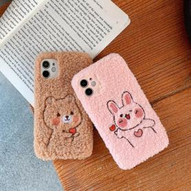 FURRY CUTE SHOCKPROOF PROTECTIVE DESIGNER IPHONE CASE PC076