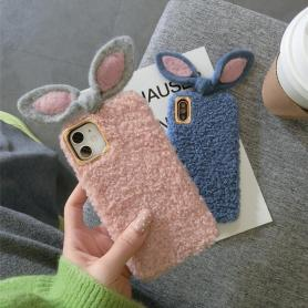 FURRY RABBIT EARS SHOCKPROOF PROTECTIVE DESIGNER IPHONE CASE PC022