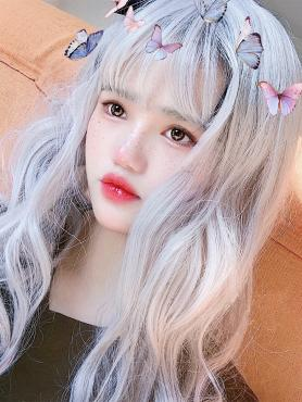 GRAY WAVY SYNTHETIC WEFTED CAP WIG LG287