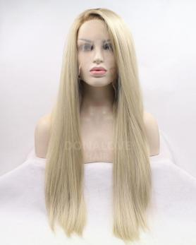 BLONDE LONG STRAIGHT SYNTHETIC LACE FRONT WIG SNY326