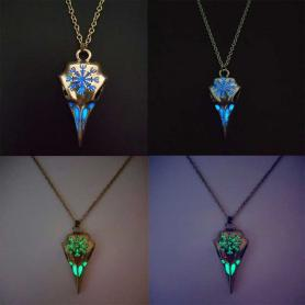 Glow in the Dark Crow Head Incantation Necklace A020