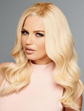 BLONDE LONG WAVY HUMAN HAIR FULL LACE WIG FLW048