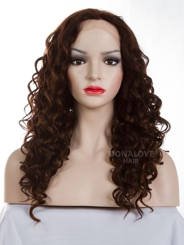 #33 mix #30 bra strap length Curly Synthetic Lace Wig-SNY033